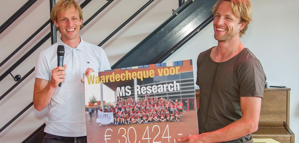 Cheque for MS Research